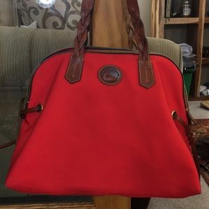 🦆 Dooney & Bourke red brown xl travel carry on 🦆